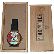 "1992 Pedre ""Sylvester and Tweety"" Cartoon Dial watch"