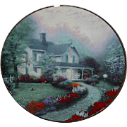 "SALE Spring Sale! 1992 Thomas Kincade ""Home Sweet Home"" Limited Edition Plate"