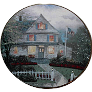 "SALE Spring Sale! 1992 Thomas Kincade ""The Twilight Cafe"" Limited Edition Plate"