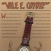 "1998 Fossil ""Wile Coyote"" Warner Bros. Studio Store Limited Edition Sketch Watch"
