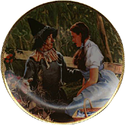 "1988 Hamilton Collection ""Dorothy Meets a Scarecrow"" Limited Edition Plate"