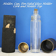 Vintage traveling vanity bottle or flask