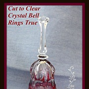 SALE Cranberry cut to clear bell