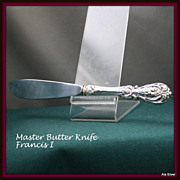 Francis I master butter knife with sterling handle by Reed & Barton
