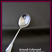 Sterling cream soup spoons in the Grand Colonial pattern by Wallace