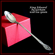 King Edward iced tea spoons in sterling by Gorham