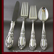 """King Richard"" 4 piece place setting Towle"
