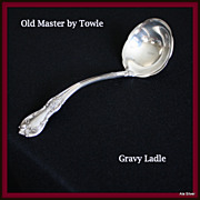 Old Master gravy ladle in solid sterling by Towle Silversmiths