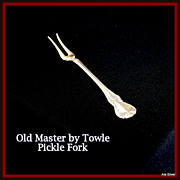 Old Master pickle fork in solid sterling by Towle Silversmiths