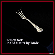 Old Master lemon fork in solid sterling by Towle Silversmiths