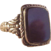Vintage 10k Black Onyx Ring/size 11 1/2