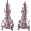 Estate Pr. Sterling Pepper Pots/Lion Feet