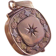 Victorian 10k Tricolor Gold Locket/Diamond