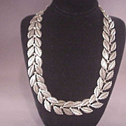 Vintage Sterling Danecraft  Leaf Necklace