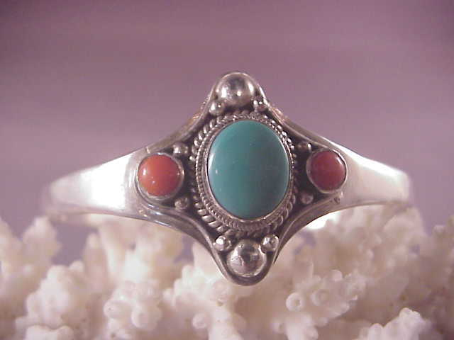 Vintage sterling turquoise coral cuff from albie on ruby lane for Naugatuck glass company
