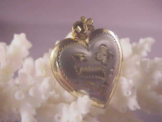Vintage gf heart locket silver from albie on ruby lane for Naugatuck glass company