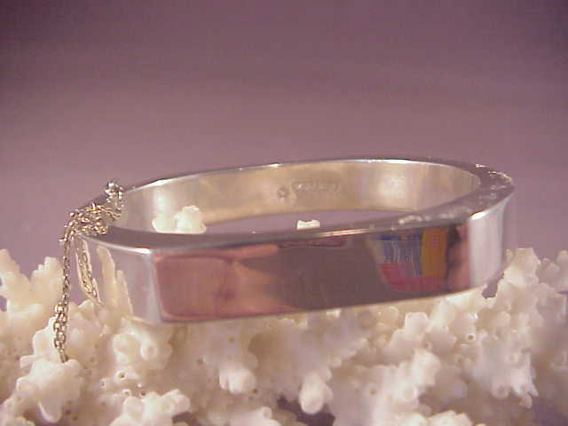 Sterling unusual shape bangle from albie on ruby lane for Naugatuck glass company