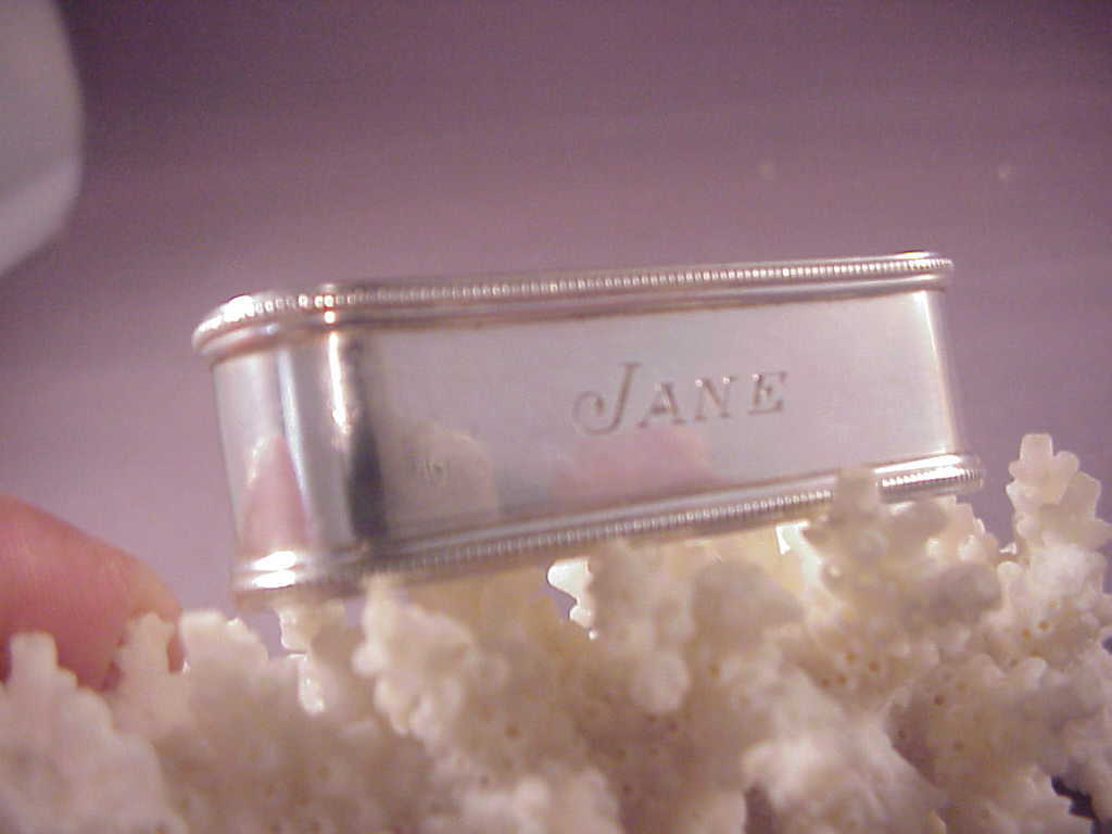 Sterling lunt napkin ring jane from albie on ruby lane for Naugatuck glass company