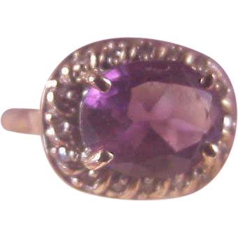 Vintage 10k amethyst diamond ring from albie on ruby lane for Naugatuck glass company