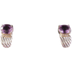 Pretty Sterling & 14K Amethyst Earrings/3 carat amethyst