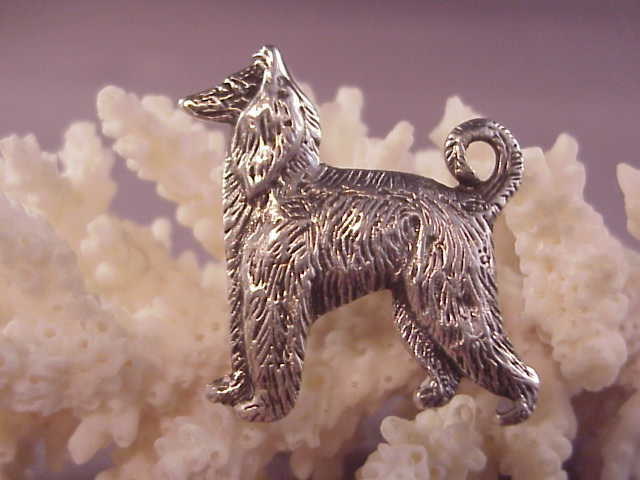 Cute vintage sterling afghan hound pin from albie on ruby lane for Naugatuck glass company