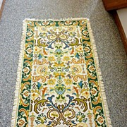 Vintage early 1900�s small Hand Hooked - Wool Needlepoint Rug