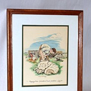 Clipping Time - B. Maloney - The Wee Mad Road - Achiltibuie - Framed Print 6/50