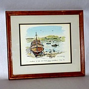 HECTORIA - B. Maloney - The Wee Mad Road - Achiltibuie - Framed Print 6/50