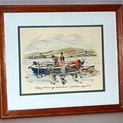 Netting Salmon - B. Maloney - The Wee Mad Road - Achiltibuie - Print 6/50