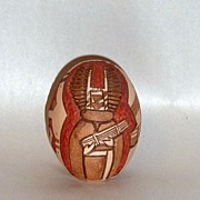 Fabulous C. Nampeyo Hopi Indian Figural Incised Pottery Egg