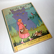Vintage 1933 Pop Up Edition Little Red Riding Hood Harold Lentz Illustrations
