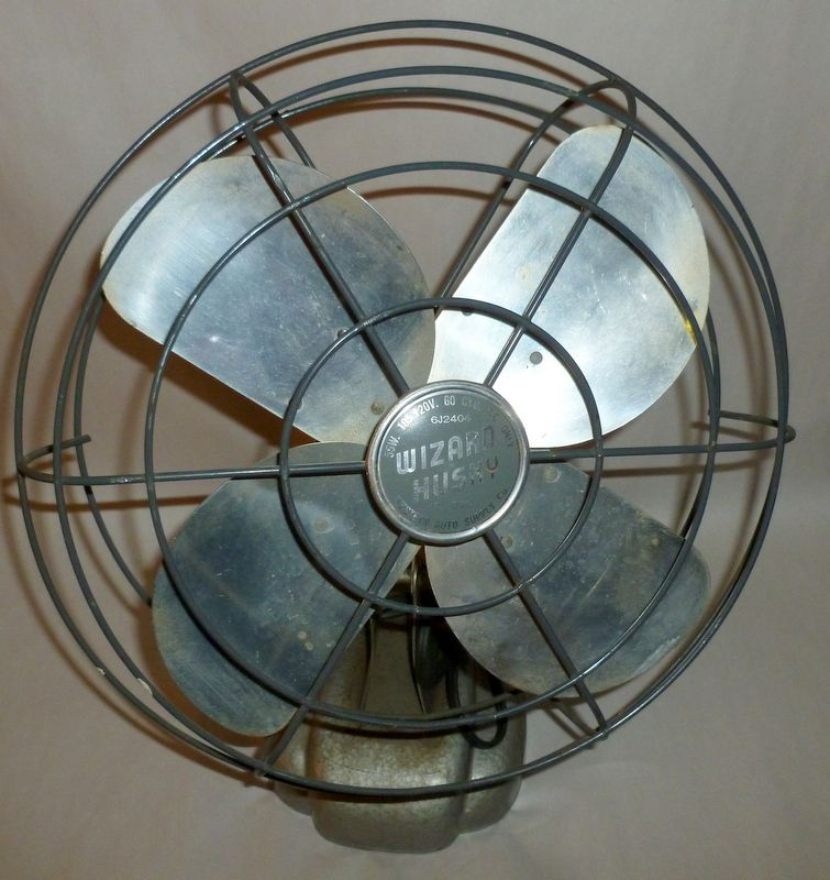 "Western Auto Vintage 1950 Wizard Husky 12"" Electric Fan - Works Very Well!"