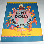 Orig. Vintage 1935 Uncut Book - Saalfield Paper Dolls From Around the World