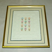 J. Billman Ice Cream Cones Embossed Print 6/250 Nursery Child's Room