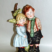 Vintage 1970's Andrea by Sadek Japan Porcelain Hansel and Gretel Figurine