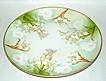 "Antique 1910 M Z Austria 8 1/2"" Porcelain Green & White Easter Lilies Plate"