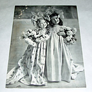 Antique 1902 Minneapolis Times 2 Little Girl Blossoms Photo Supplement Give Away