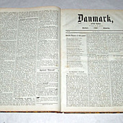 1865 DENMARK Bound Collection of Political Newspapers Jan - Dec