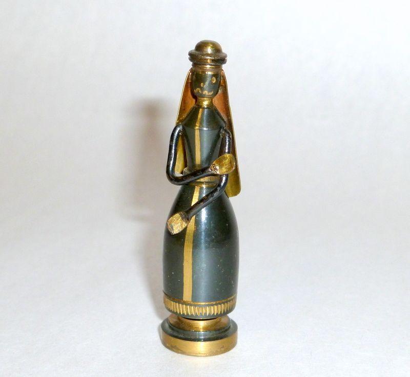 Fabulous 1950s Hans Teppich Bronze + Brass JOSEPH 2