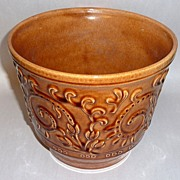 Vintage Haeger Golden Glazed Relief Cache Pot Jardiniere