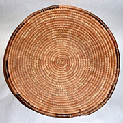 "Vintage 15"" African Zulu Simple Woven Grass Basket Bowl or Large Jar Cover"