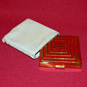 Elizabeth Arden Gold Tone Compact