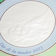 Lladro Dia De La Madre 1972 Mother's Day Plate