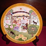 """Return Into Galilee"" Limited Edition Collector Plate by Hedi Keller of Konigszelt B"