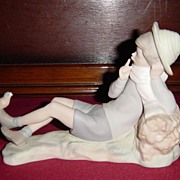 Lladro Bird Watcher Retired Figurine #4730 Matte Finish
