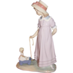 Lladro Girl with Toy Wagon #5044