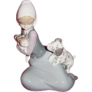 "Lladro ""Dog and Cat"" ""Little Friskies"" Figurine #5032"