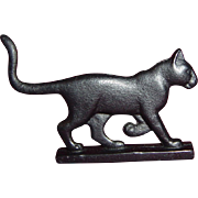 Bootscraper Curio Cabinet Cat by Franklin Mint