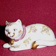 Franklin Mint Curio Cabinet Satsuma Cat