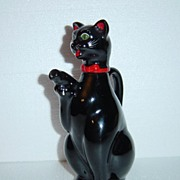 Japan Red Ware Shafford Black Cat Cruet